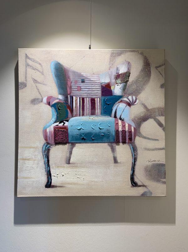 Schilderij stoel retro vooraanzicht